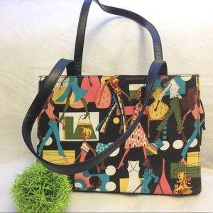 Stylish Nicci textile hard body fashion handbag